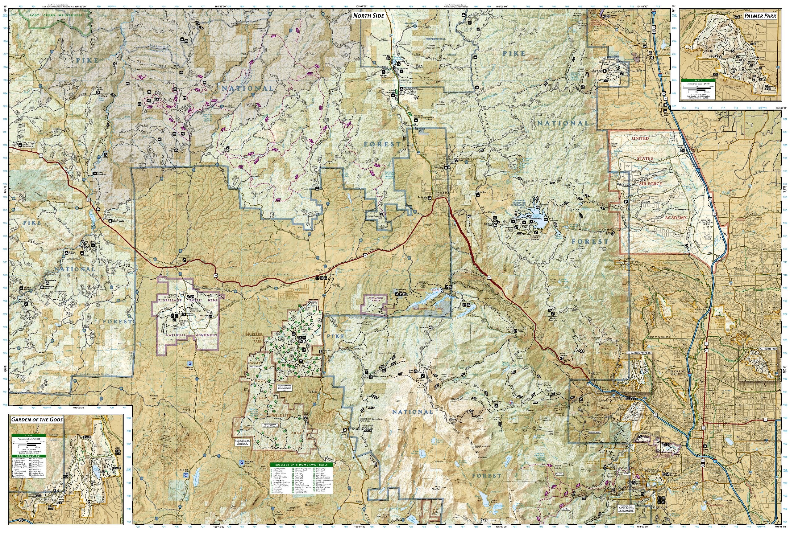 pikes peak canon city national geographic trails illustrated map