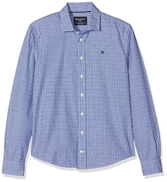 63ac9d78ef4a3 Hackett London Boy's RED Square Check Shirt, Blue/White, 5 Years:  Amazon.co.uk: Clothing