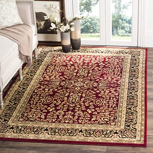 Safavieh Lyndhurst Collection LNH214A Traditional Oriental Red and Black Area Rug 6 x 9