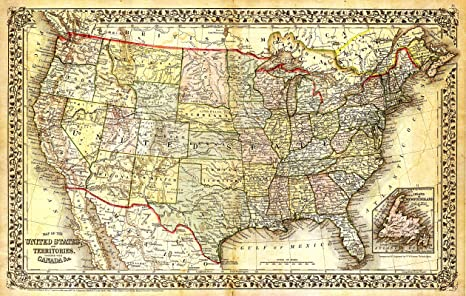 Amazon.com: Beautiful Vintage United States Map Poster ... on united states map with rivers and lakes labeled, united states waterfall locations, united states is in north america, ww1 united states map, united states usa travel map, united states cultural symbols, united states sun map, united states in 1790, united states of america news, united states richmond map, modern united states map, united states america map, united states map grey, chaco canyon archaeological site map, united states global map, large united states highway map, united states phoenix map, united states space view, silver burdett and ginn inc. united states map, united states capes,