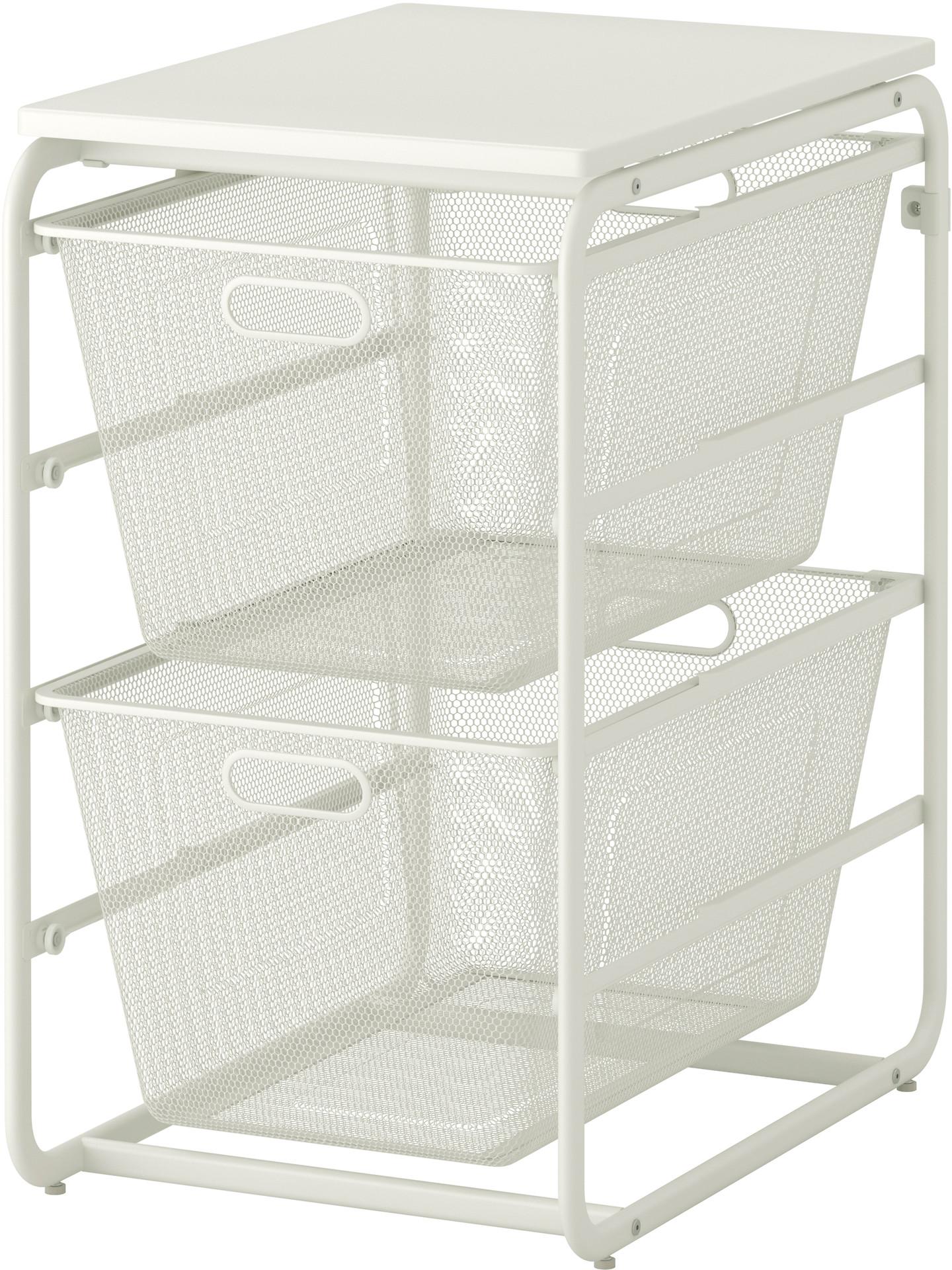 ALGOT Frame with 2 mesh baskets/top shelf - IKEA