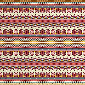Amazon Com Ambesonne Ethnic Fabric By The Yard Floral And