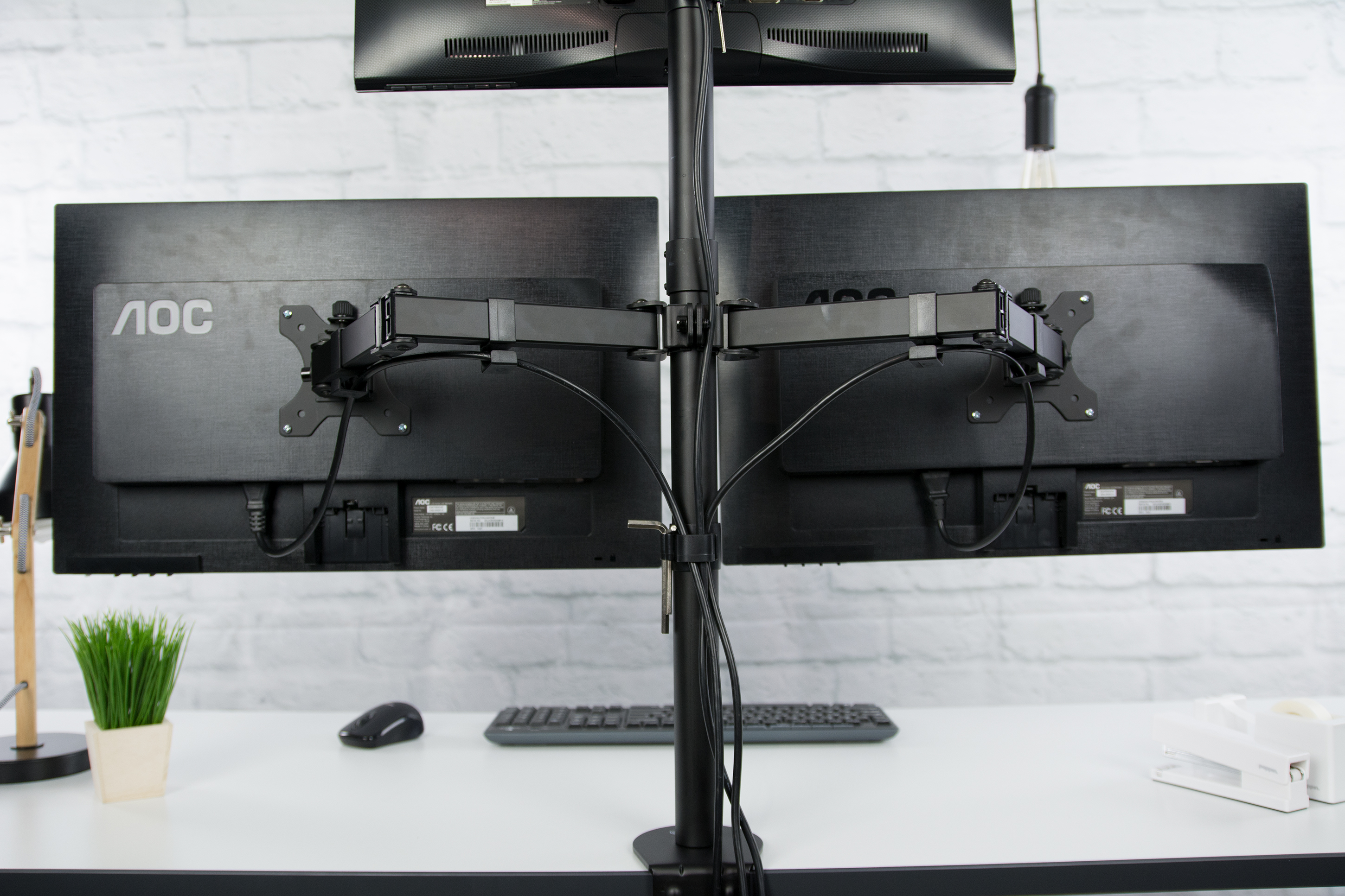 VIVO Triple LCD Monitor Desk Mount Stand Heavy Duty Fully Adjustable 3 Screens