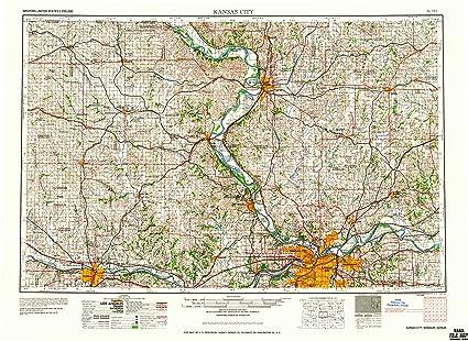 Amazon.com : YellowMaps Kansas City MO topo map, 1:250000 Scale, 1 X ...