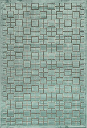 Loloi Rugs Halton Too Azure Area Rug, 3-Feet 10-Inch by 3-Feet 10-Inch