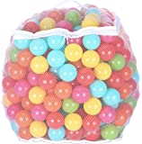BalanceFrom 2.3-Inch Phthalate Free BPA Free Non-Toxic Crush Proof Play Balls Pit Balls- 6 Bright Colors in Reusable and…