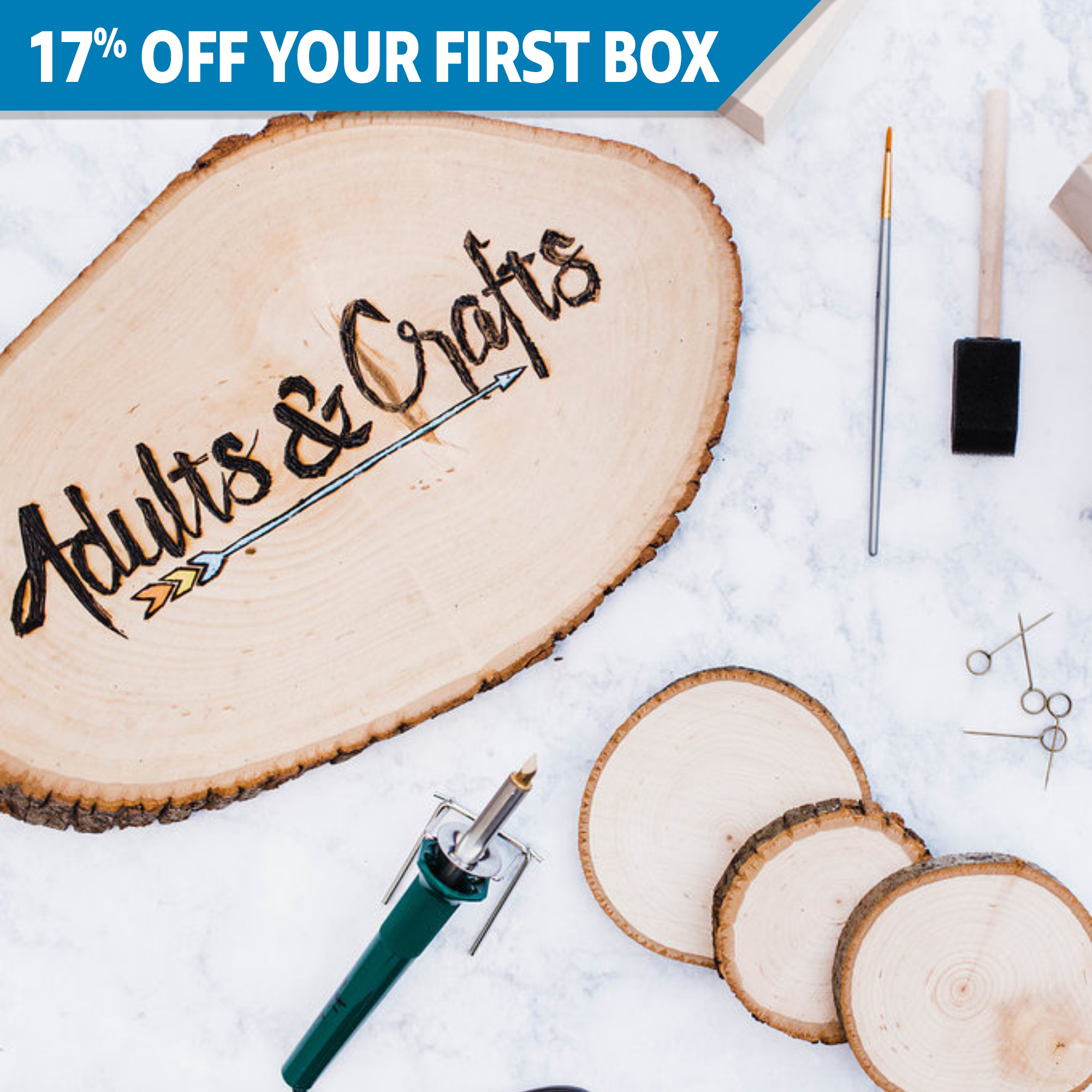 Adults & Crafts - DIY Craft Kits Subscription Box
