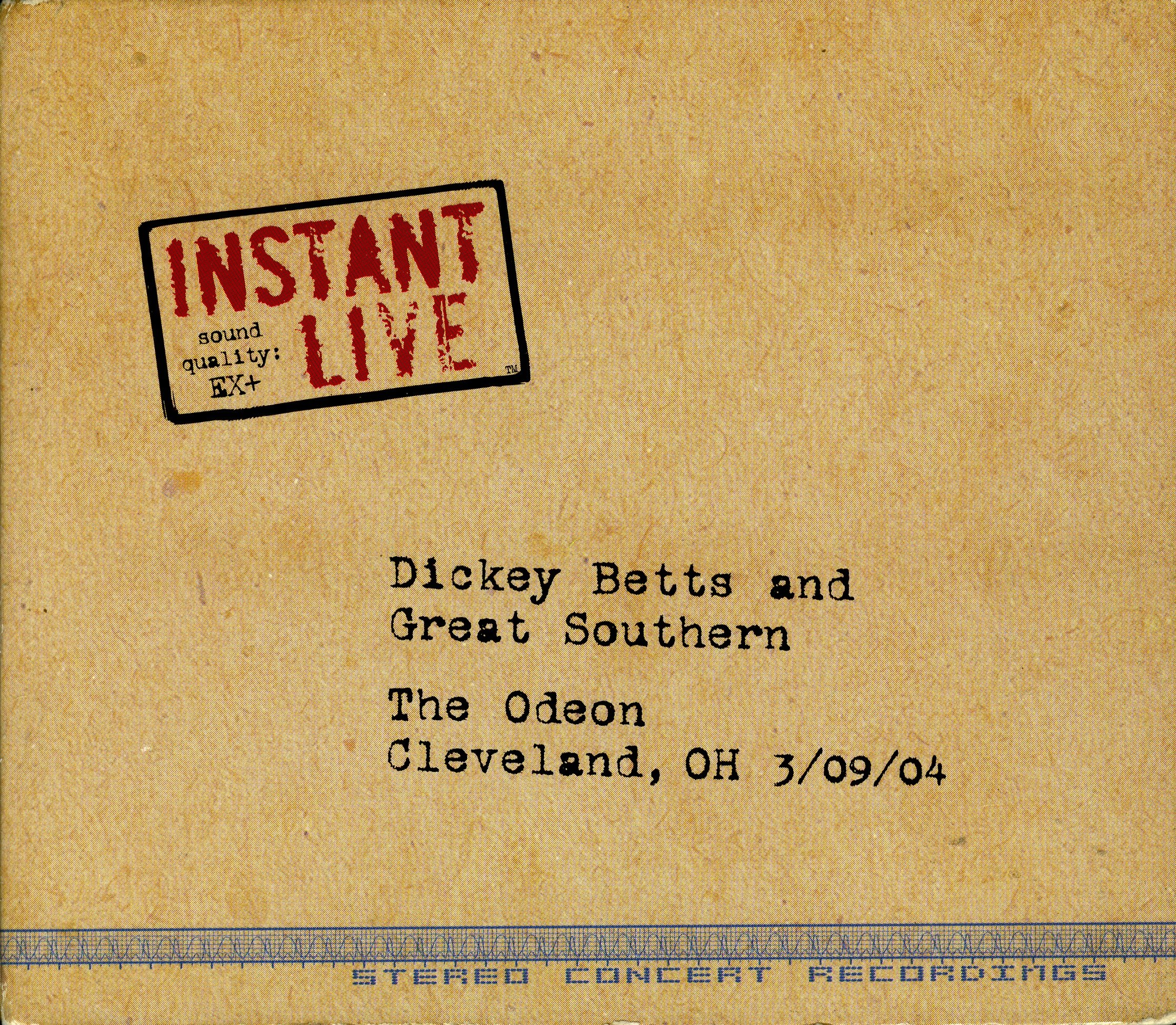 Instant Live: Odeon - Cleveland Oh 03-09-04