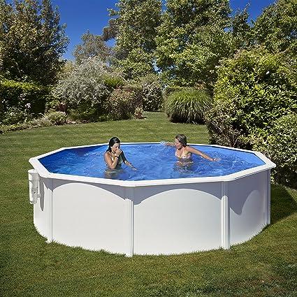 Gre KITPR303 - Piscina Bora Bora Desmontable Redonda de Acero, Color Blanco, 300x120cm: Amazon.es: Jardín
