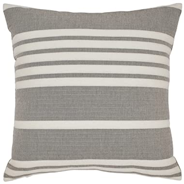 Stone & Beam Casual Striped Throw Pillow - 17 x 17 Inch, Grey