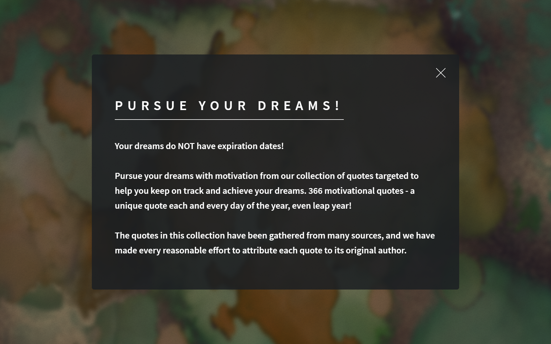 Amazon.com: PURSUE YOUR DREAMS! 366 Motivational Quotes ...