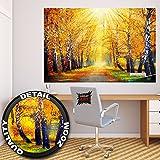 Autunno FOTOMURALE – bosco autunnale quadro murale per il soggiorno - Great Art 140 cm x 100 cm