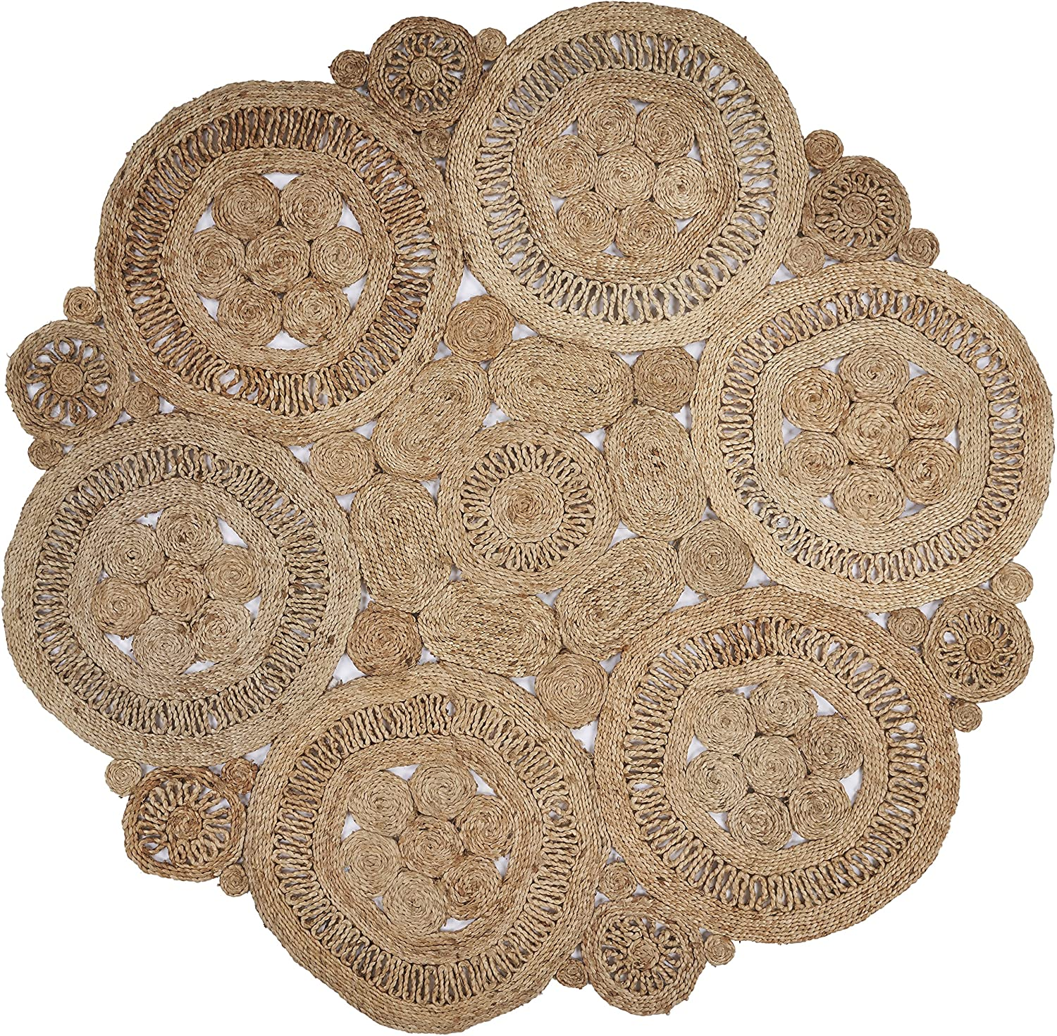 Shop Natural Round X 4 ft Indoor Area Rug from Amazon on Openhaus