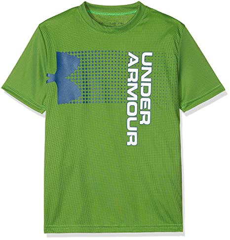 431366d0 Under Armour Kids Boy's Crossfade Tee (Big Kids) Arena Green/Moroccan Blue/