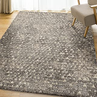 product image for Orian Rugs Super Shag Collection 392425 Timberlane Area Rug, 9' x 13', Grey