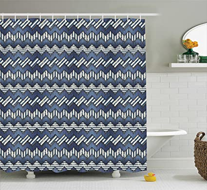 Amazon.com: Ambesonne Nautical Decor Collection, Patchwork of Denim ...
