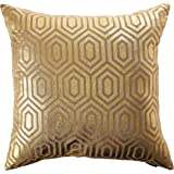 Safavieh Pillow Collection 22-Inch, Harper Gold Throw Pillows (Set of 2)