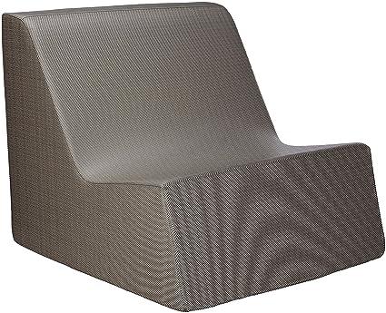 La Fete Design Check Deep Lounge Chair, Silver Pixel