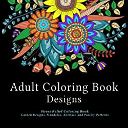 Adult Coloring Book Designs Cover Art