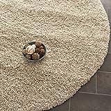 """Safavieh California Premium Shag Collection SG151-1313 Beige Round Area Rug (6'7"""" Diameter)"""