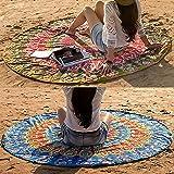 Set of 2 Round Beach Blanket or Mandala Tapestry - Bohemian or Boho Tablecloth, Hippie Beach Towel or Picnic Throw…