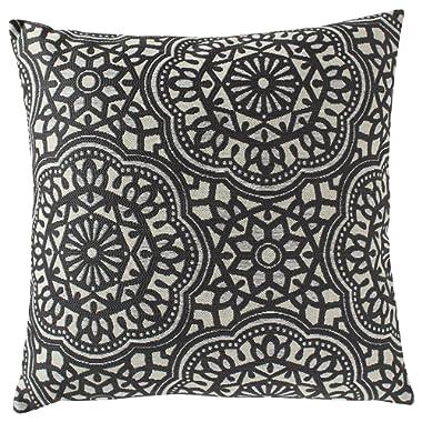 Stone & Beam Medallion Decorative Throw Pillow, 17  x 17 , Coal