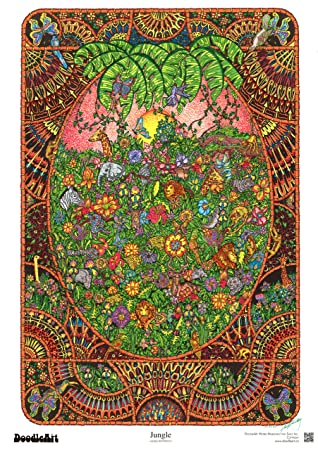 Amazon.com: The Original DoodleArt by PlaSmart - Jungle Adult ...