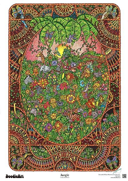 Amazon.com: The Original DoodleArt by PlaSmart - Jungle Adult ...