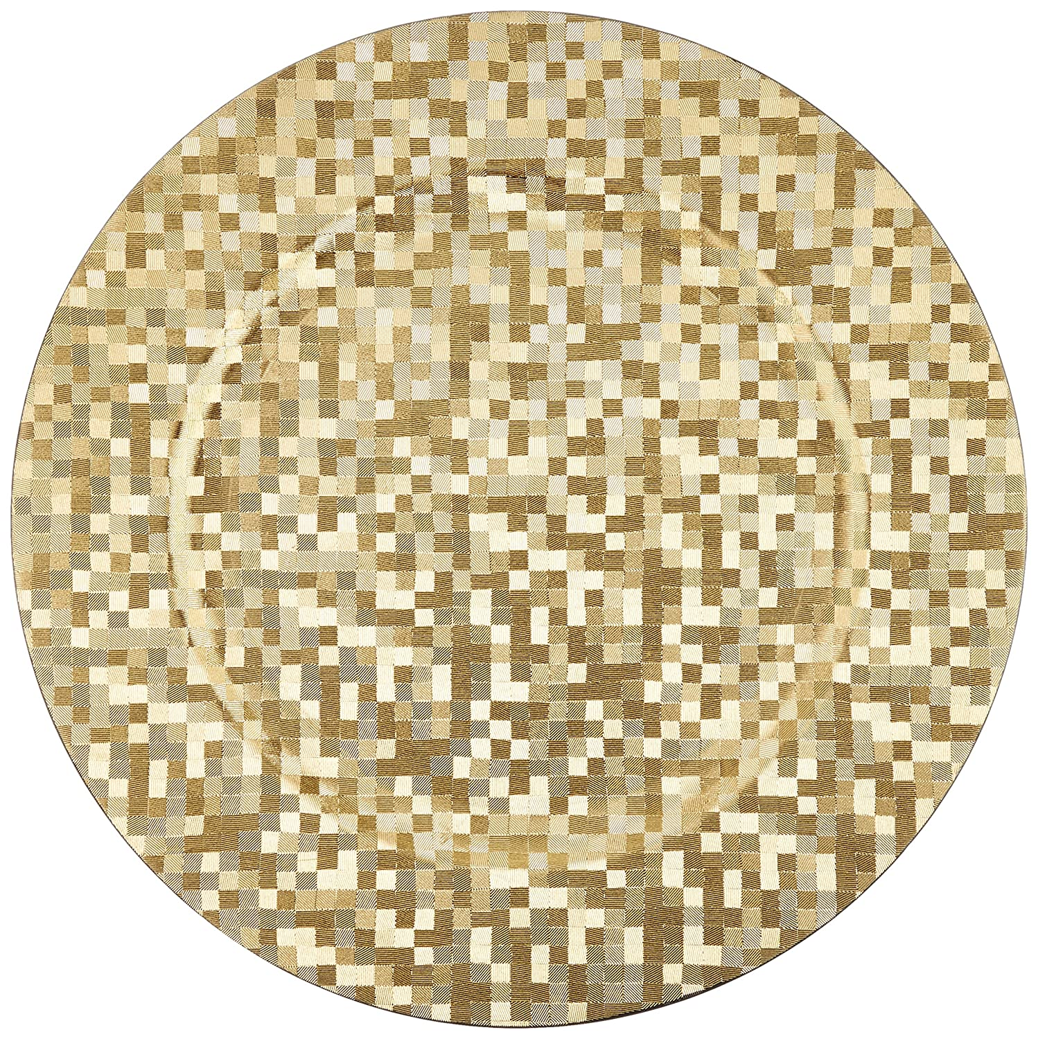 ChargeIt by Jay Silver Mosaic Round Charger Plate Jay Imports 1427591BK