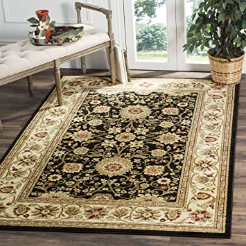 Safavieh Lyndhurst Collection LNH212A Traditional Oriental Black And Ivory Rectangle Area Rug 811quot