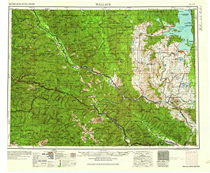 Amazon.com : YellowMaps Wallace ID topo map, 1:250000 Scale ...