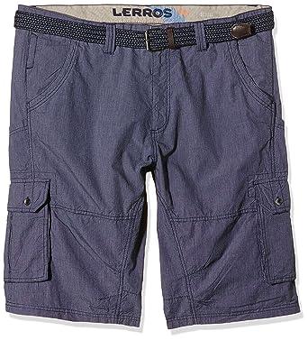LERROS Herren Shorts Große Größe Bermuda mit Gürtel, Gr. 58  (Herstellergröße: 3XL), Blau (Night Blue 480): Amazon.de: Bekleidung