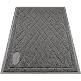 Pawkin Cat Litter Mat, Patented Design with Litter Lock Mesh, Durable, Easy to Clean, Soft, Fits Under Litter Box, Litter Fre