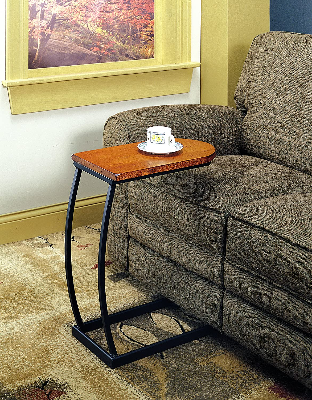 Distressed Oak /& Black Metal Coaster 900279 Sofa Table