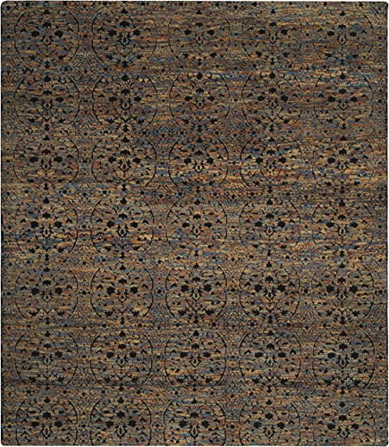 Safavieh Castilla Collection CST143A Hand-Knotted Wool Area Rug, 9 x 12 , Blue Gold Charcoal