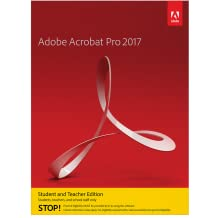 Adobe Acrobat Pro 2017 Student and Teacher Edition Windows - Validation Required [Download]