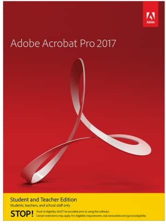Amazon Com Adobe Acrobat Pro 2017 Student And Teacher