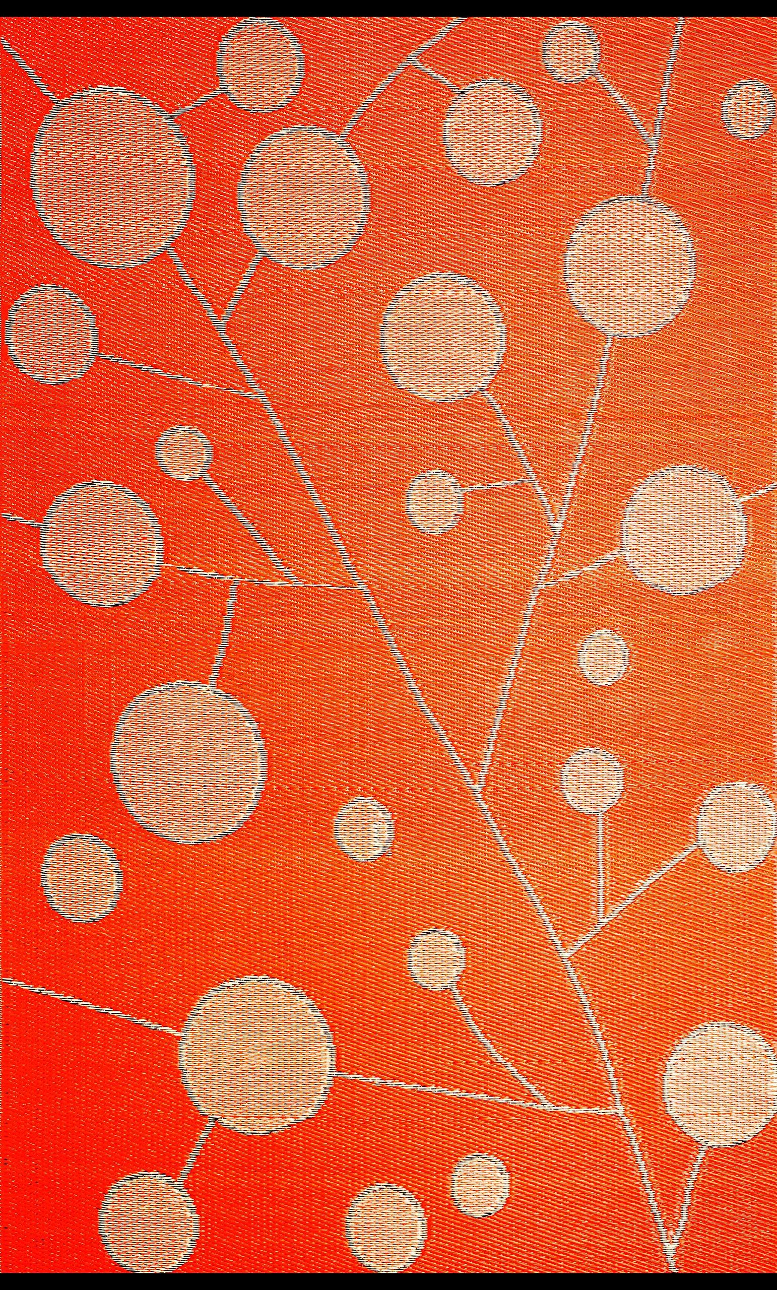 b.b.begonia Contemporary Reversible Design Cotton Ball Outdoor Area Rug, 6' x 9', Brown/Orange by b.b.begonia (Image #2)