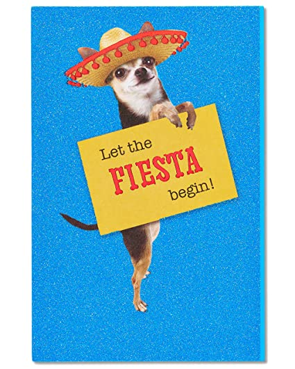 Amazon American Greetings Fiesta Birthday Card With Glitter