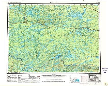 Amazon.com : YellowMaps Quetico MN topo map, 1:250000 Scale, 1 X 2 on