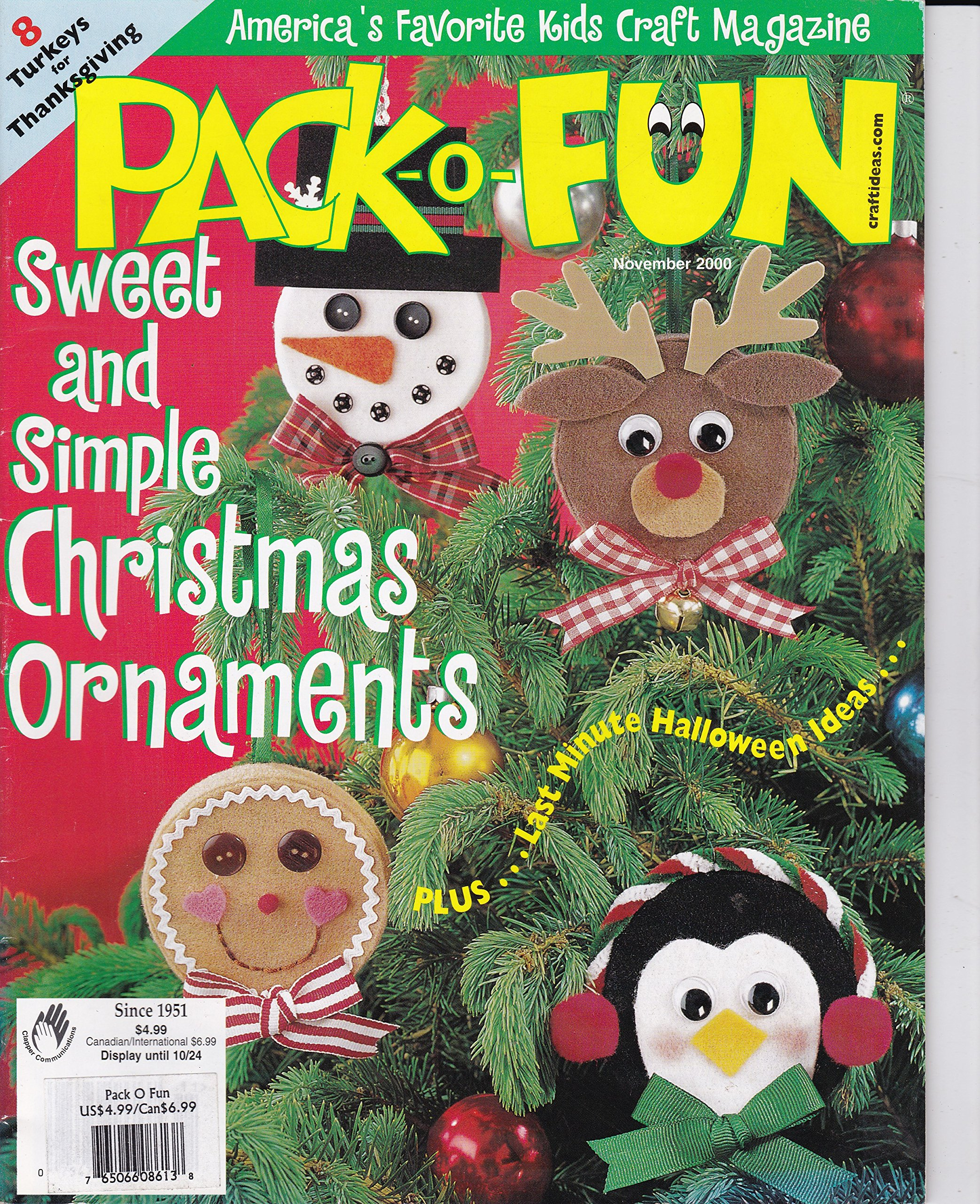 Pack O Fun America S Favorite Kids Craft Magazine November 2000 8