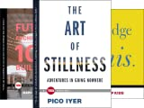"""From Book 1: A follow up to Pico Iyer's essay """"The Joy of Quiet,"""" The Art of Stillness considers the unexpected adventure of staying put and reveals a counterintuitive truth: The more ways we have to connect, the more we seem desperate to unplug.Why ..."""