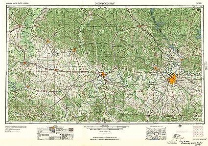 Amazon.com : YellowMaps Montgomery AL topo map, 1:250000 Scale, 1 X ...