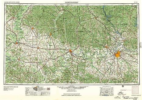 Amazon.com : Montgomery AL topo map, 1:250000 scale, 1 X 2 Degree ...