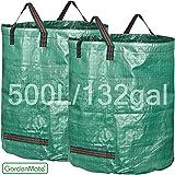 GardenMate® 2x sac de déchets de jardin 500L