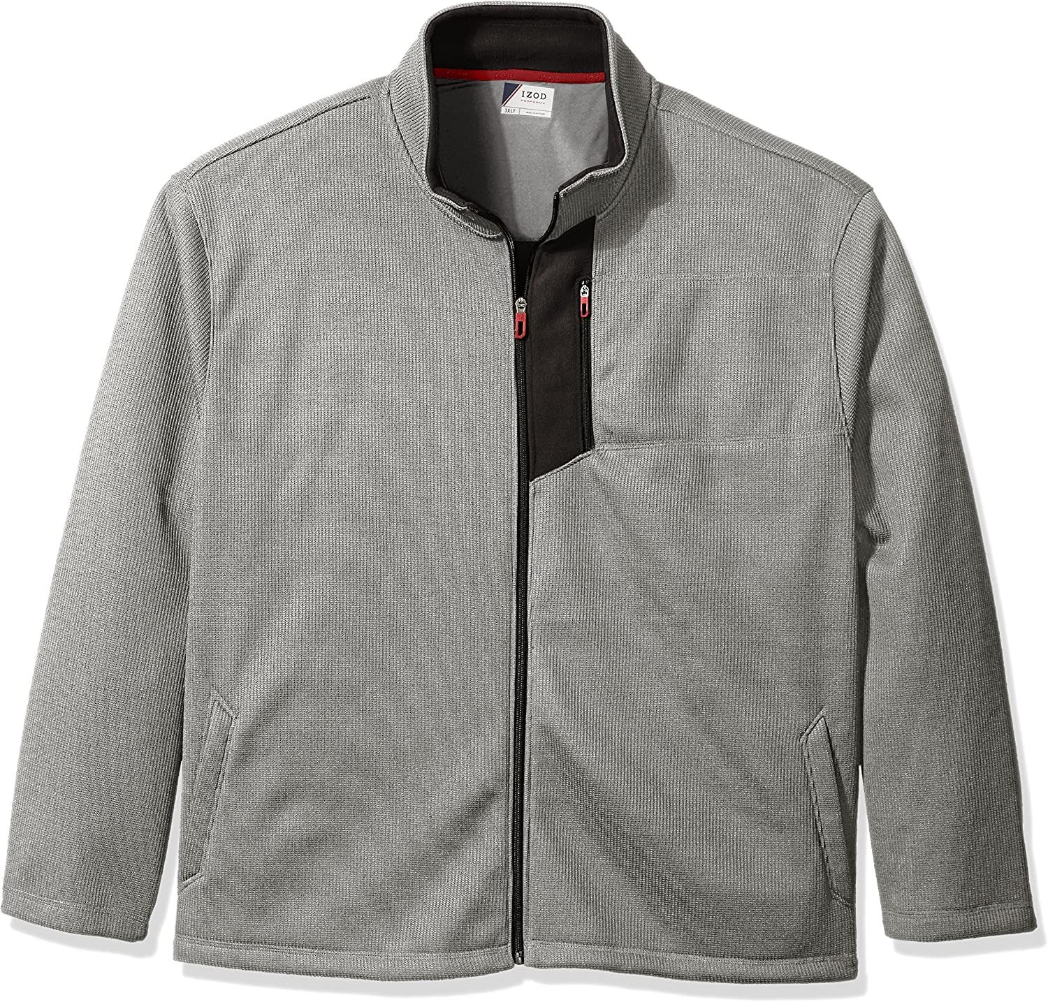 IZOD Mens Big and Tall Advantage Performance Full Zip Fleece Jacket
