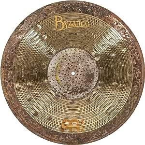 "Meinl Cymbals Byzance 21"" Jazz Nuance Ride with Rivets, Ralph Peterson Signature — MADE IN TURKEY — Hand Hammered B20 Bronze, 2-YEAR WARRANTY, B21NUR, inch"