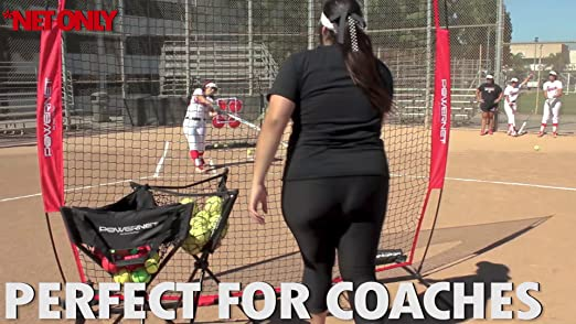 Amazon.com : PowerNet 7x7 ft Pitch-Thru Protection Screen for Softball (NET ONLY) | 49 sqft Barrier | Perfect for Pitching or Batting Practice | Open Area ...