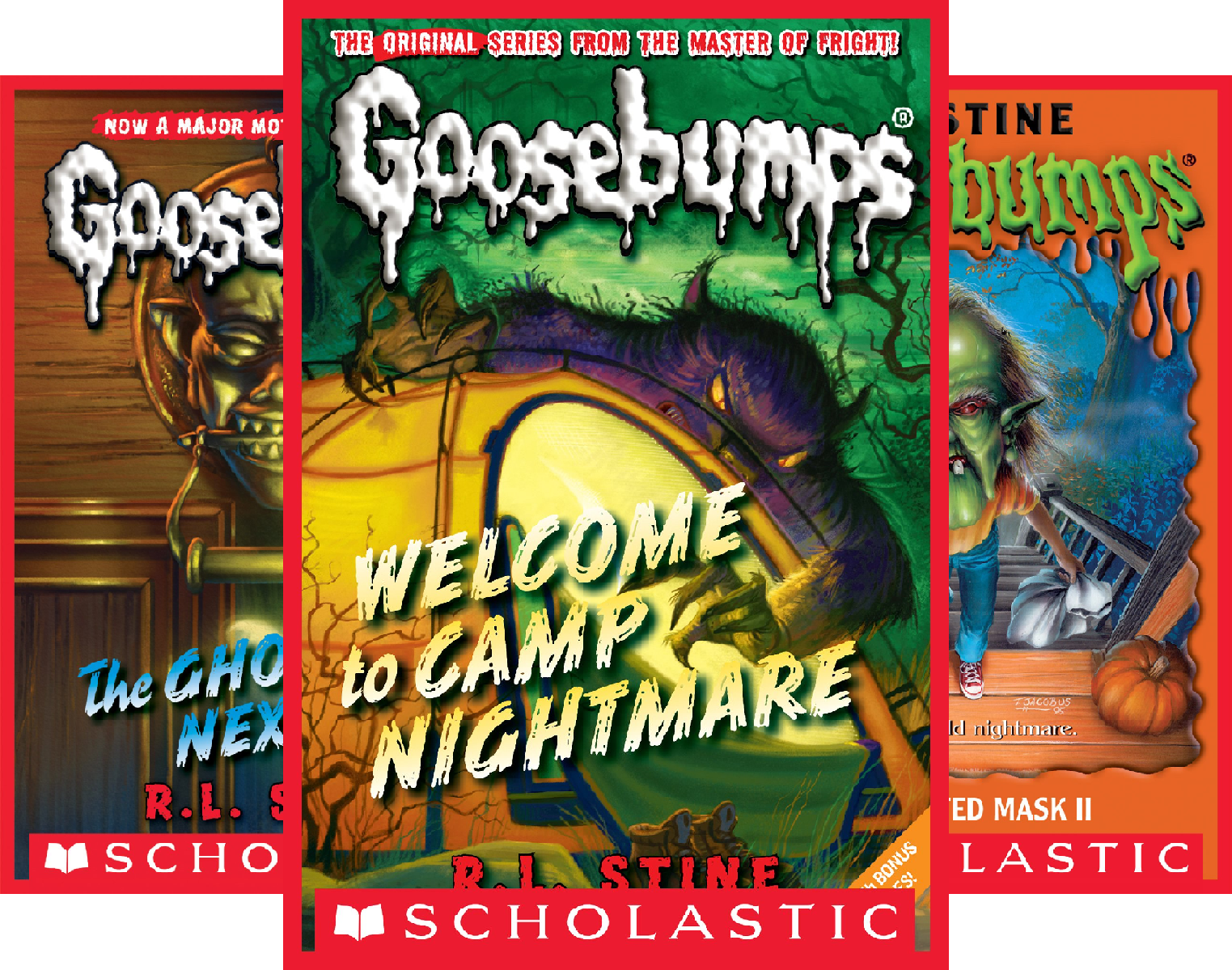 Goosebumps Boxed Set, Books 9-12: Welcome to Camp Nightmare, The Ghost Next Door, The Haunted Mask, and Be Careful What You Wish For (4 Book Series) ()