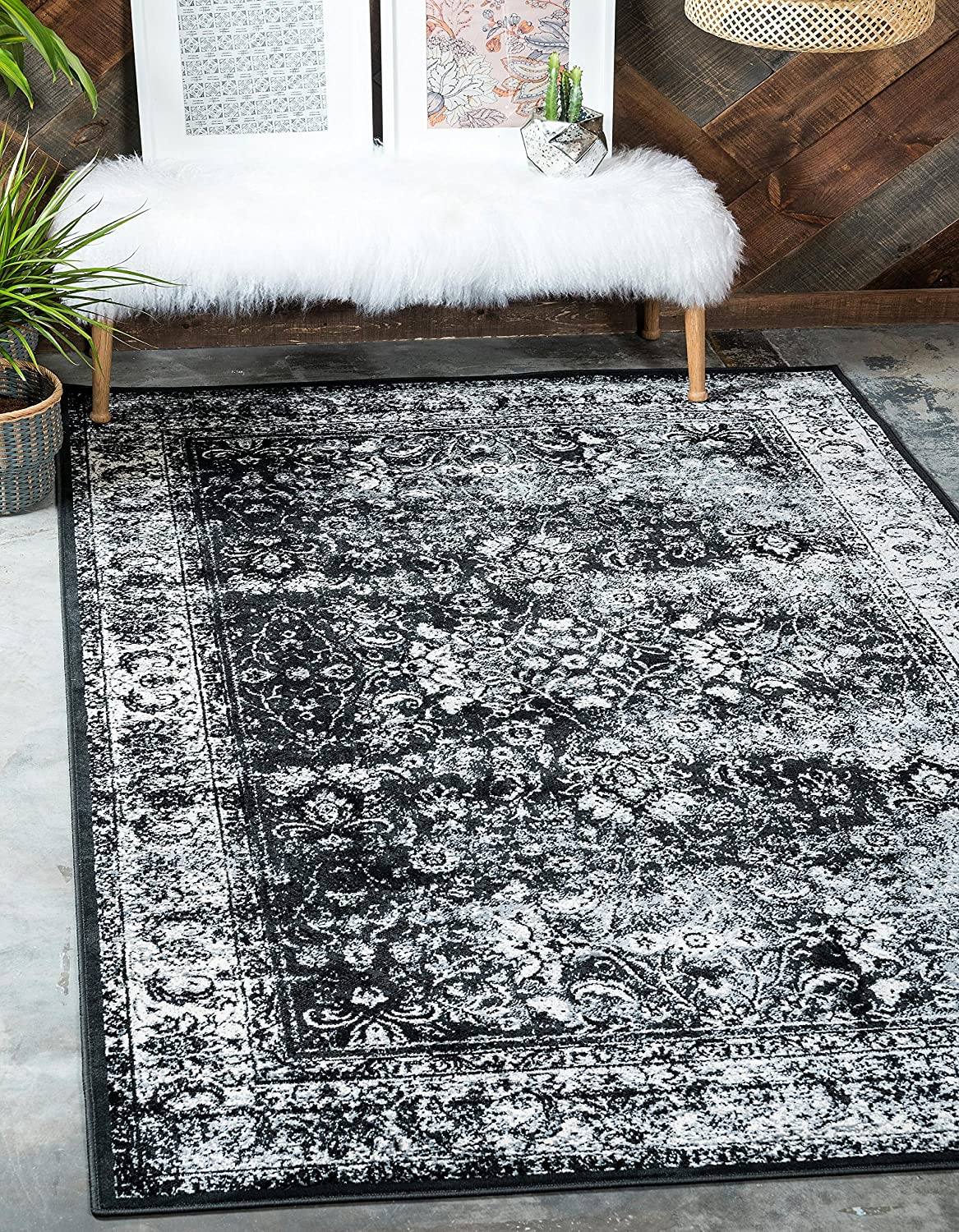 Unique Loom Imperial Collection Modern Traditional Vintage Distressed Light Gray Area Rug (2' 0 x 3' 0)